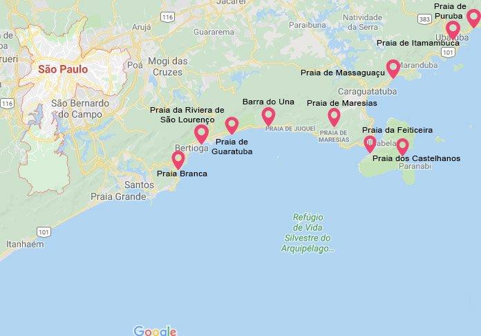 Uma viagem pelo litoral paulista